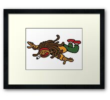 cartoon rasta reggae fly hight Framed Print