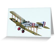 Bristol F2B  WW1  Fighter Aircraft Greeting Card