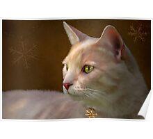Charmed ... Tabby Cat Portrait Poster