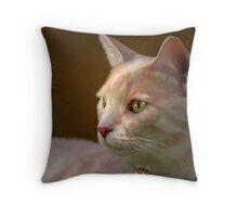 Charmed ... Tabby Cat Portrait Throw Pillow