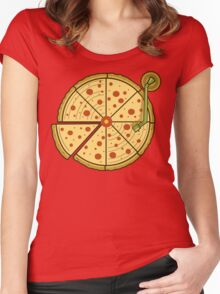 Pizza Vinyl Women's Fitted Scoop T-Shirt