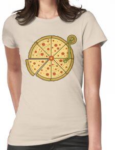 Pizza Vinyl Womens Fitted T-Shirt