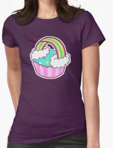 Cute Rainbow Cupcake Womens Fitted T-Shirt