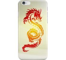 Burning Dragon - Red & Yellow iPhone Case/Skin