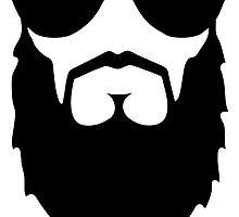 beard face head sunglasses by huggymauve