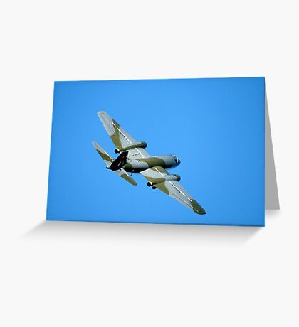 English Electric CANBERRA  Bomber  Aircraft  Greeting Card