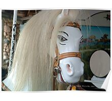 Watch Hill Carousel - White Horse Close - up Poster