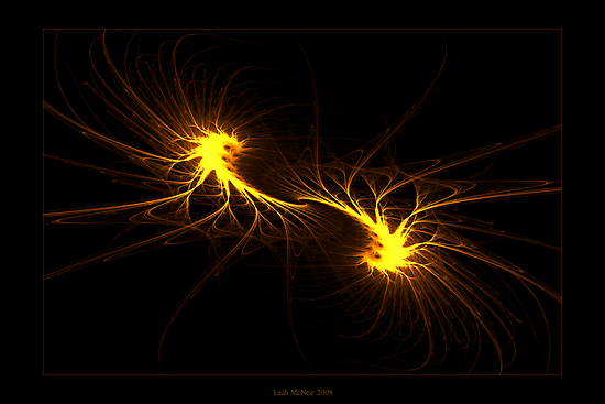 """Twin Flames""  - Fractal Art by Leah McNeir"