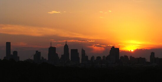 Sunset over Melbourne 5 by Paige