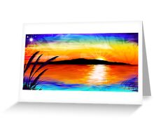 Kapiti Island Sunset Greeting Card