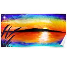 Kapiti Island Sunset Poster