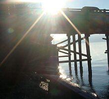Sunlight through Dock by threelittlefish
