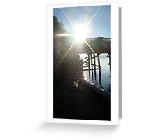 Sunlight through Dock Greeting Card
