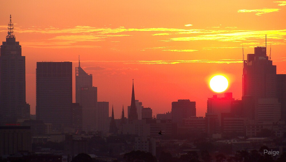 Sunset over Melbourne 6 by Paige