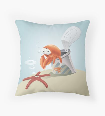 Canned Crab Throw Pillow