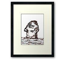 Lone Moon Head Framed Print