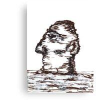 Lone Moon Head Canvas Print