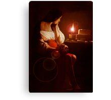 Mary Magdalin Remembering Jesus. Canvas Print