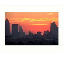Sunset over Melbourne 10 Art Print