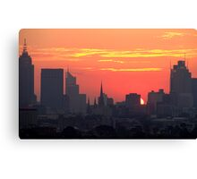 Sunset over Melbourne 10 Canvas Print