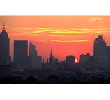 Sunset over Melbourne 10 Photographic Print