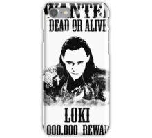 Wanted Loki iPhone Case/Skin