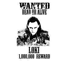 Wanted Loki Photographic Print