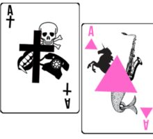 Through The Eras Playing Cards Sticker