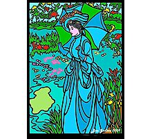 Lady In Stained Glass Photographic Print