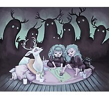 Seance with Taxidermy Photographic Print