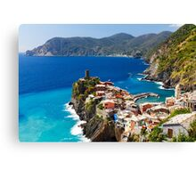 Cinque Terre Town on a Rock Canvas Print