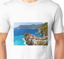 Cinque Terre Town on a Rock Unisex T-Shirt
