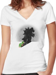 Becoming a Legend - Bowser Women's Fitted V-Neck T-Shirt