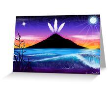 Taranaki te Maunga Greeting Card