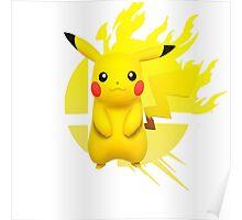 Super Smash Bros Pikachu 3ds/wii u Poster