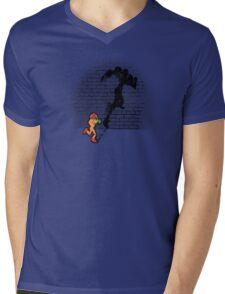 Becoming a Legend- Samus Aran Mens V-Neck T-Shirt