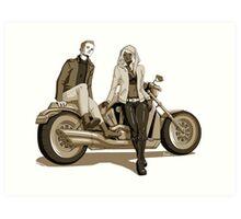 Motorcycle Duo Art Print