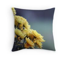 yellow chrysantemum Throw Pillow