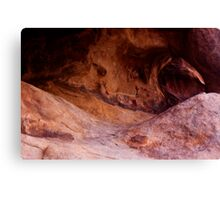 Petroglyphs and the Arch Canvas Print