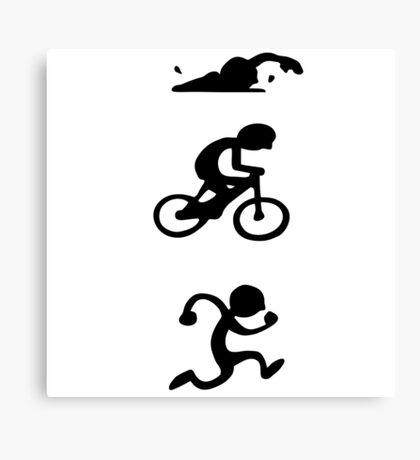 Triathlon sport Canvas Print