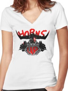 Bull's Chargers Women's Fitted V-Neck T-Shirt