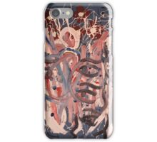 Lovers in a blizzard, dreaming of spring roses iPhone Case/Skin