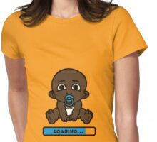 black baby babe bébé bebe loading Womens Fitted T-Shirt