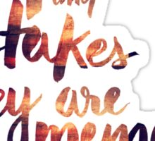 Regrets and Mistakes They're Memories Made - Adele Sticker