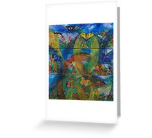 Whimsical Nature - Triptych Greeting Card