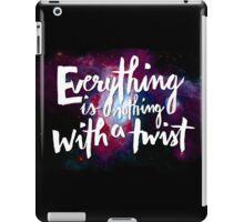 Everything is Nothing with a Twist - Kurt Vonnegut iPad Case/Skin