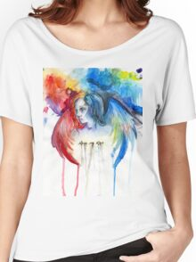 Give Me Love - Watercolor Women's Relaxed Fit T-Shirt
