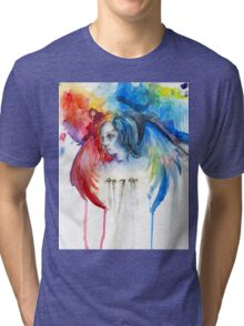 Give Me Love - Watercolor Tri-blend T-Shirt