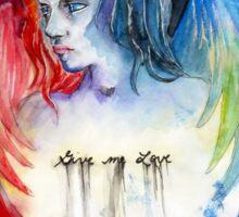 Give Me Love - Watercolor Sticker