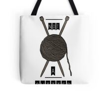 No Quitting, Just Knitting Tote Bag